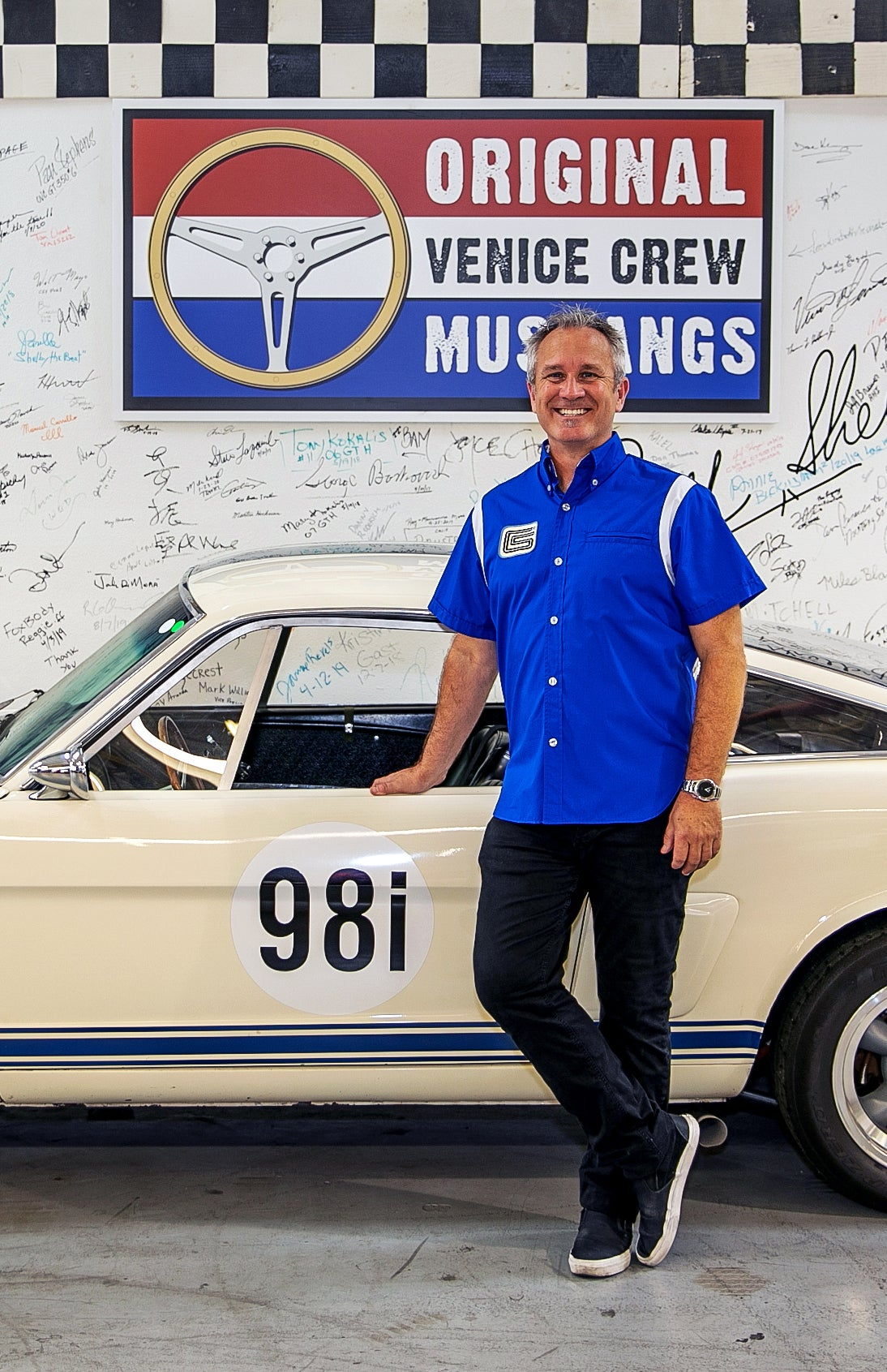 Image of Shelby American Iconic Blue Team Shirt