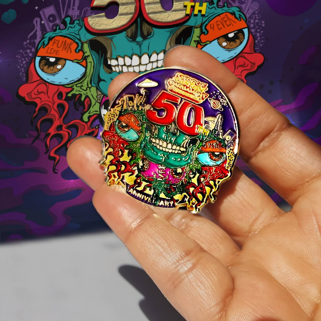 Image of 50th Anniversary Power Pin (single item)
