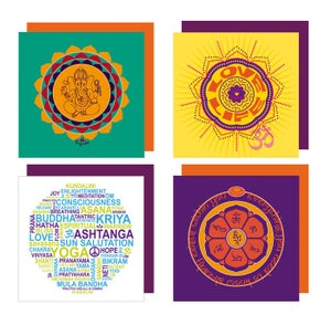 Image of YogaBe 'Mantra Collection' Greetings Card Pack