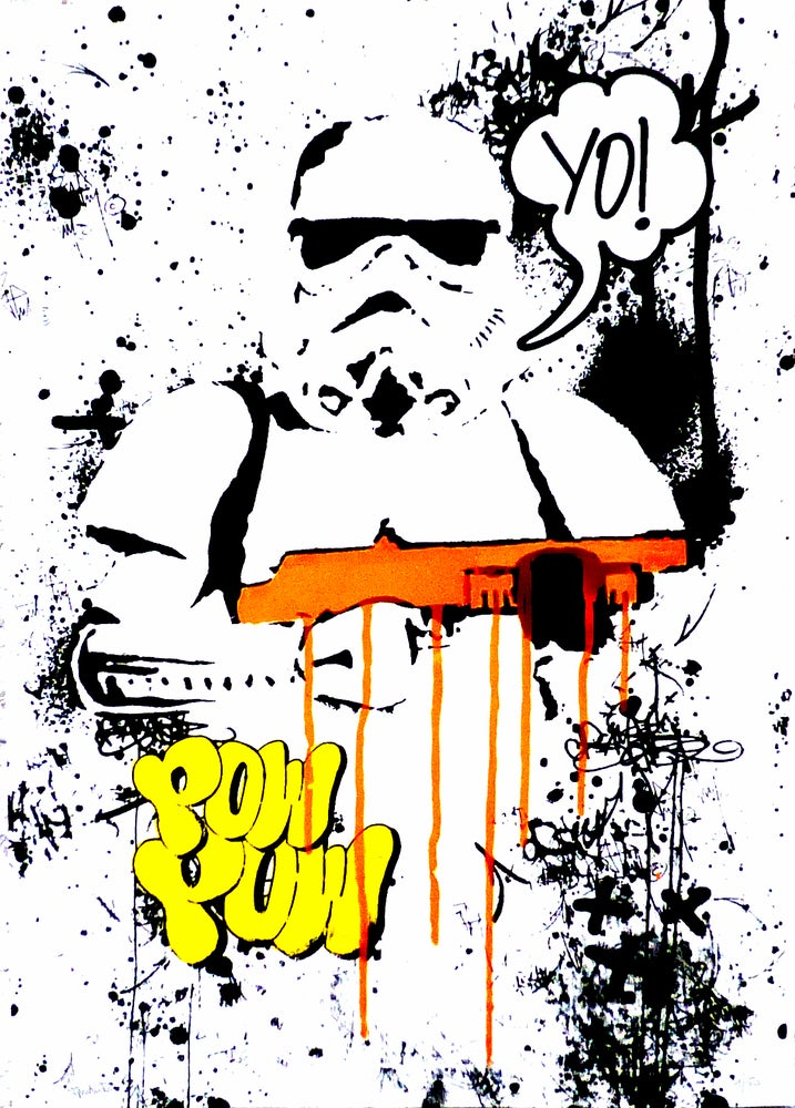 Image of YO! TROOPER ORANGE. Edition X50. signed, numered.