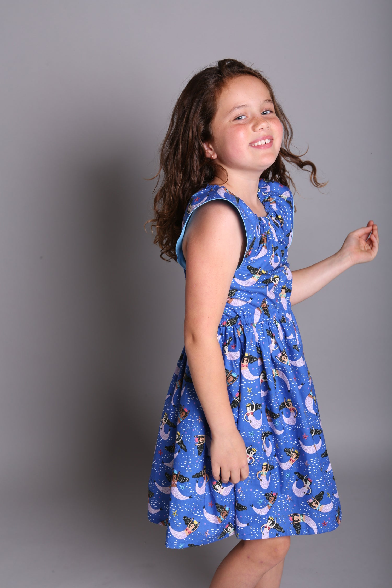Image of Tilly Dress is Royal Blue Mermaids