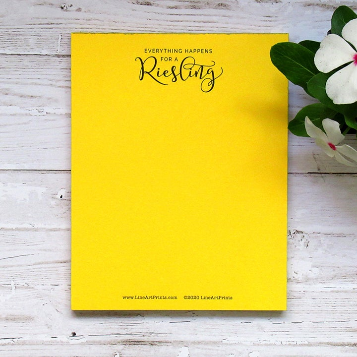 Everything happens for a Riesling - Notepad for drinking buddy