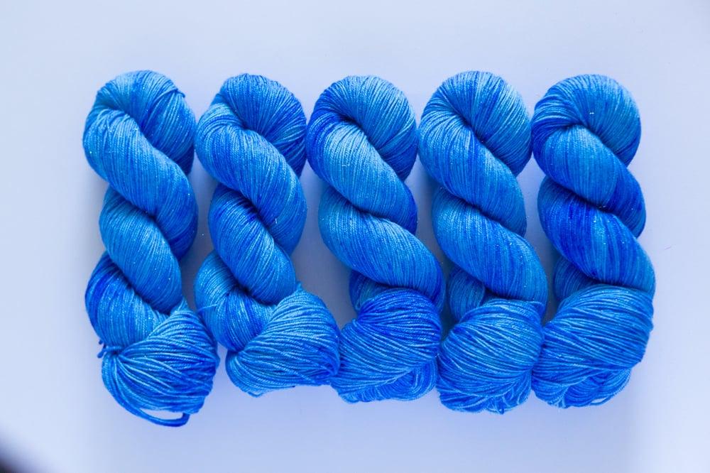 Image of Glitter Sock - Smurfs