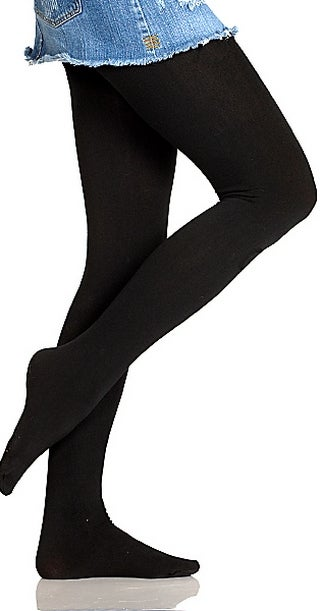 Image of Black Fleece Lined Tights