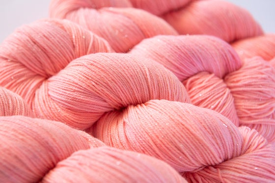 Image of Glitter Sock - Coral
