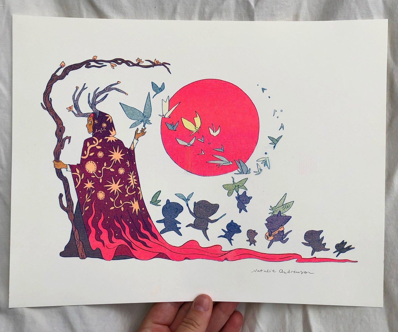 Fairy Dance Risograph Print