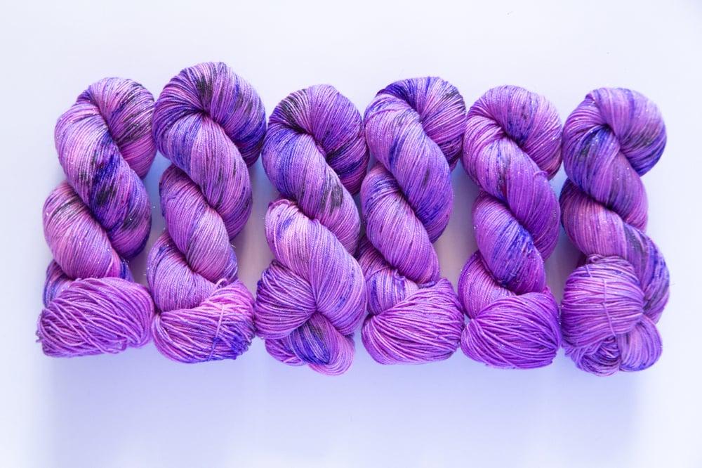 Image of Glitter Sock - Purple Planet