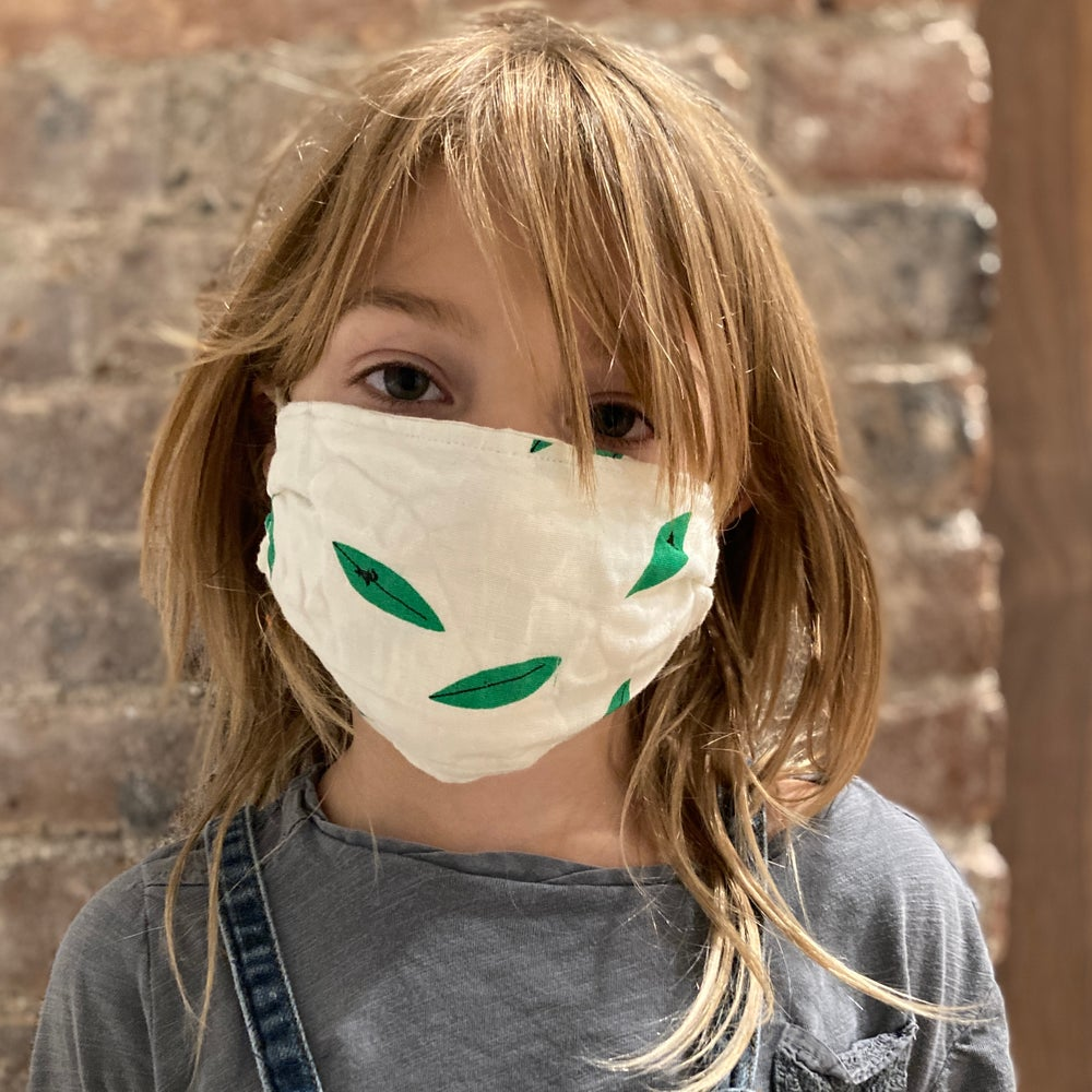 Image of Organic Cotton Muslin Face Mask (child pair)
