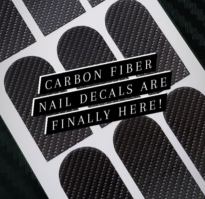 Image of Carbon Fiber Nail Decals