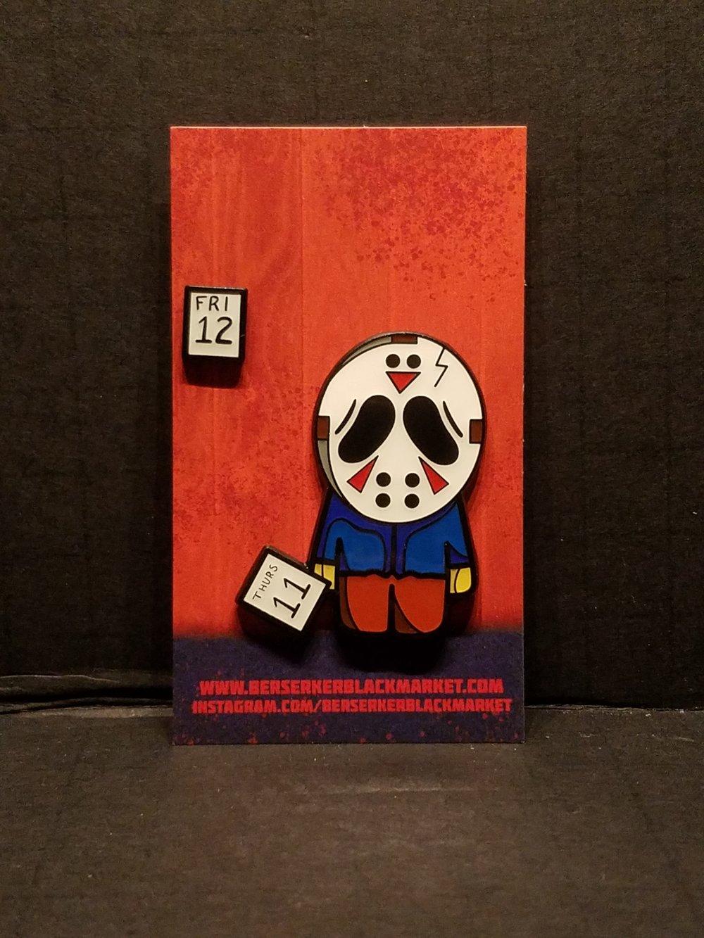 """Sad Jason"" Enamel 2-Pin Set"