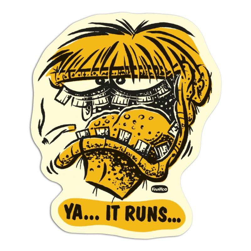 Image of It Runs Sticker