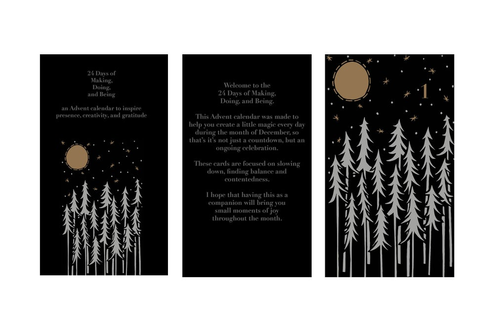 Image of 24 Days of Making, Doing, and Being Advent Calendar {PREORDER}