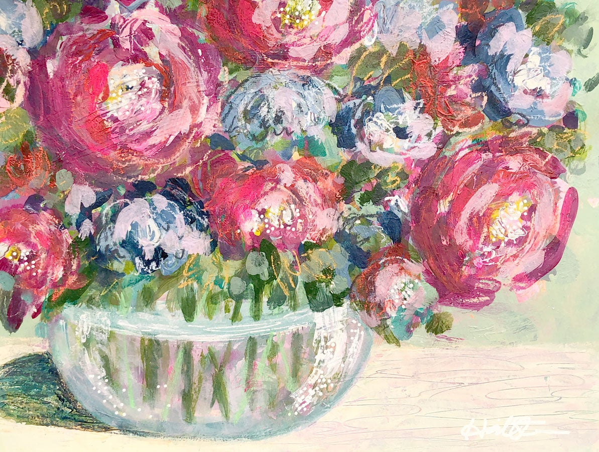 Image of Mixed Berry Bouquet - 9x12 Original Painting on Paper