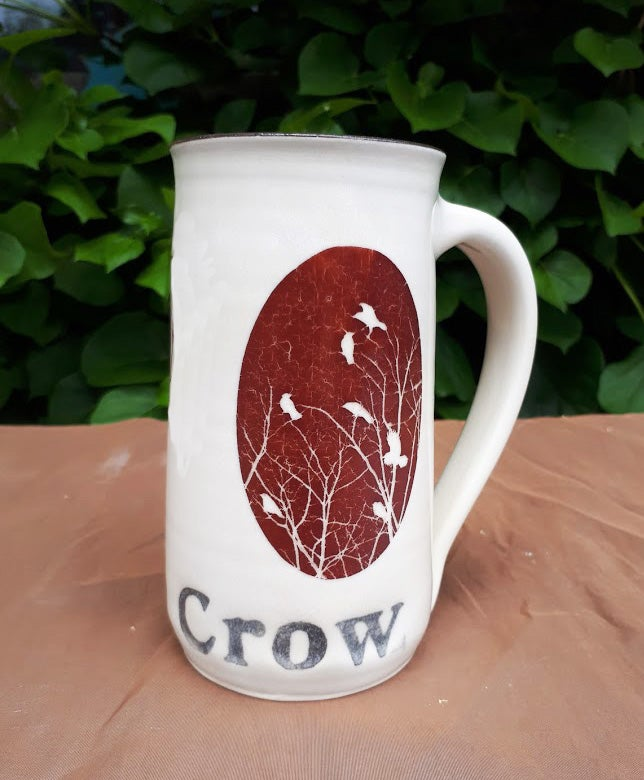 Image of Hello Crow Mug by Bunny Safari