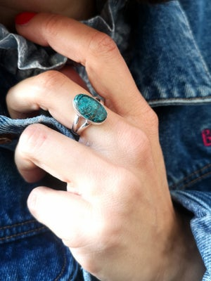 Image of Bague azurite taille 55 - ref. 6258