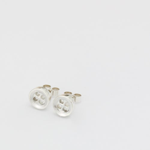 Image of small button studs, small 4 hole buttons