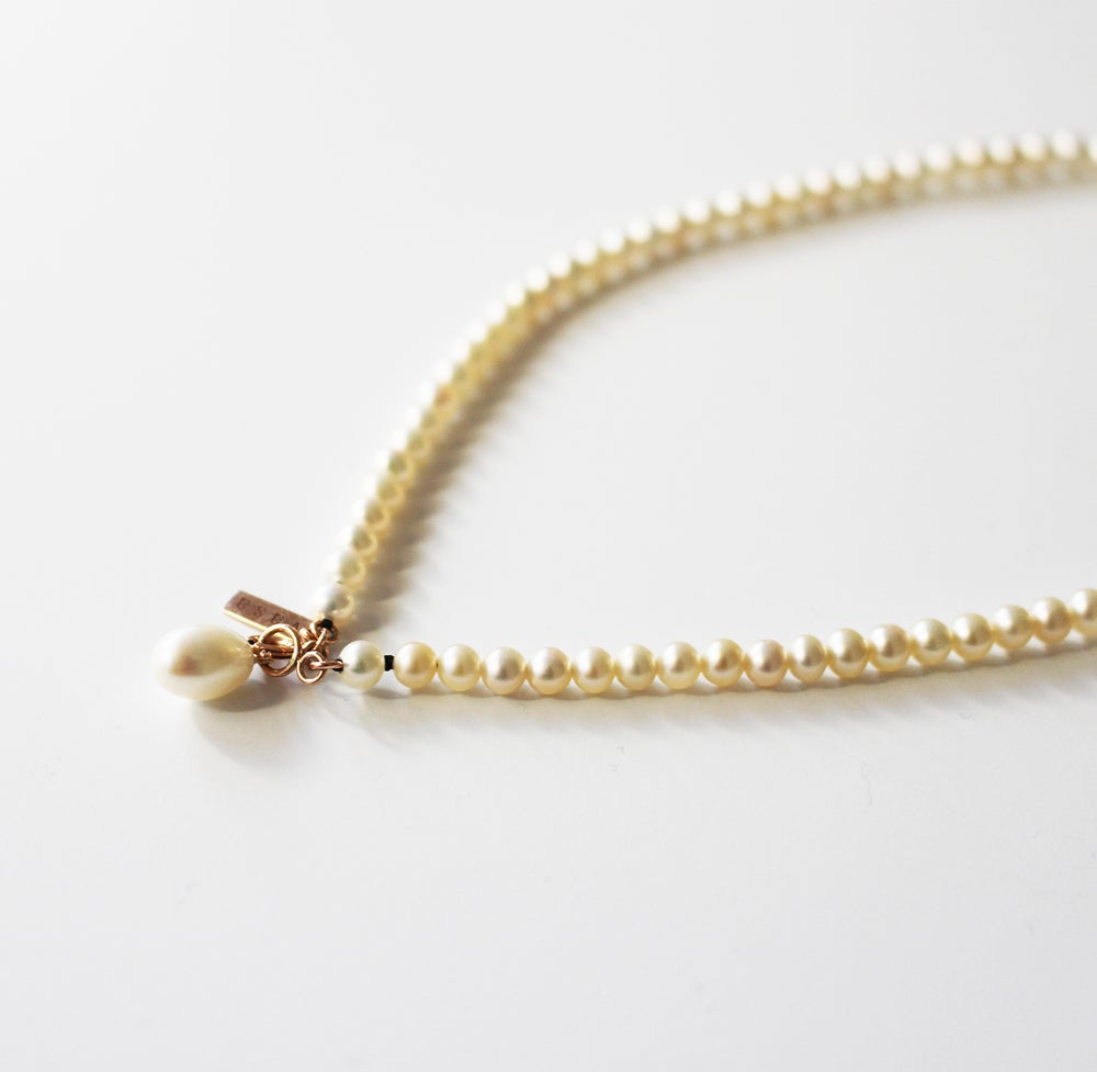 Image of Pearl drop choker necklace