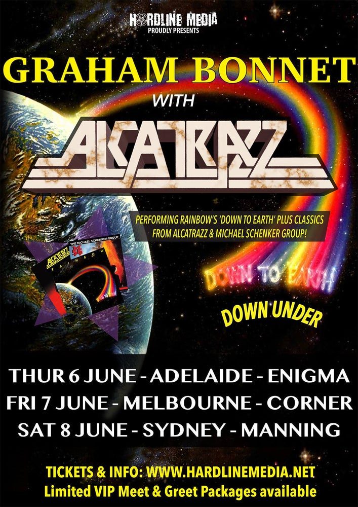 Image of GRAHAM BONNET with ALCATRAZZ - Aussie Tour Poster 2019