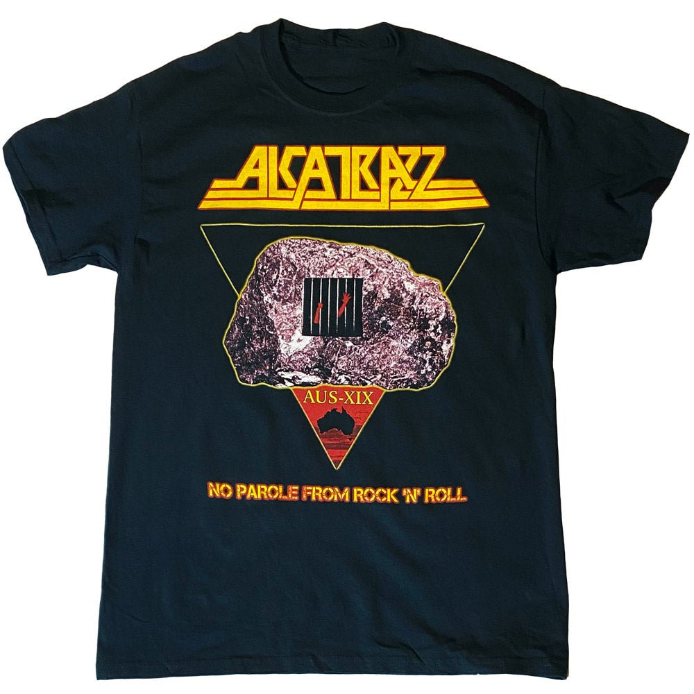 Image of ALCATRAZZ - No Parole From Rock 'N' Roll - SHIRT Aussie Tour Dates on Back