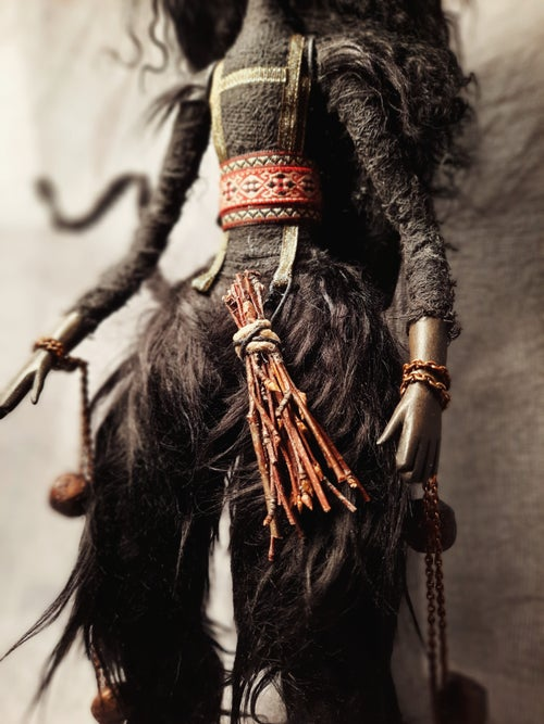 "Image of OOAK Art doll Krampusnacht - Art Dolls Only Winter Show ""A Dark Christmas"""