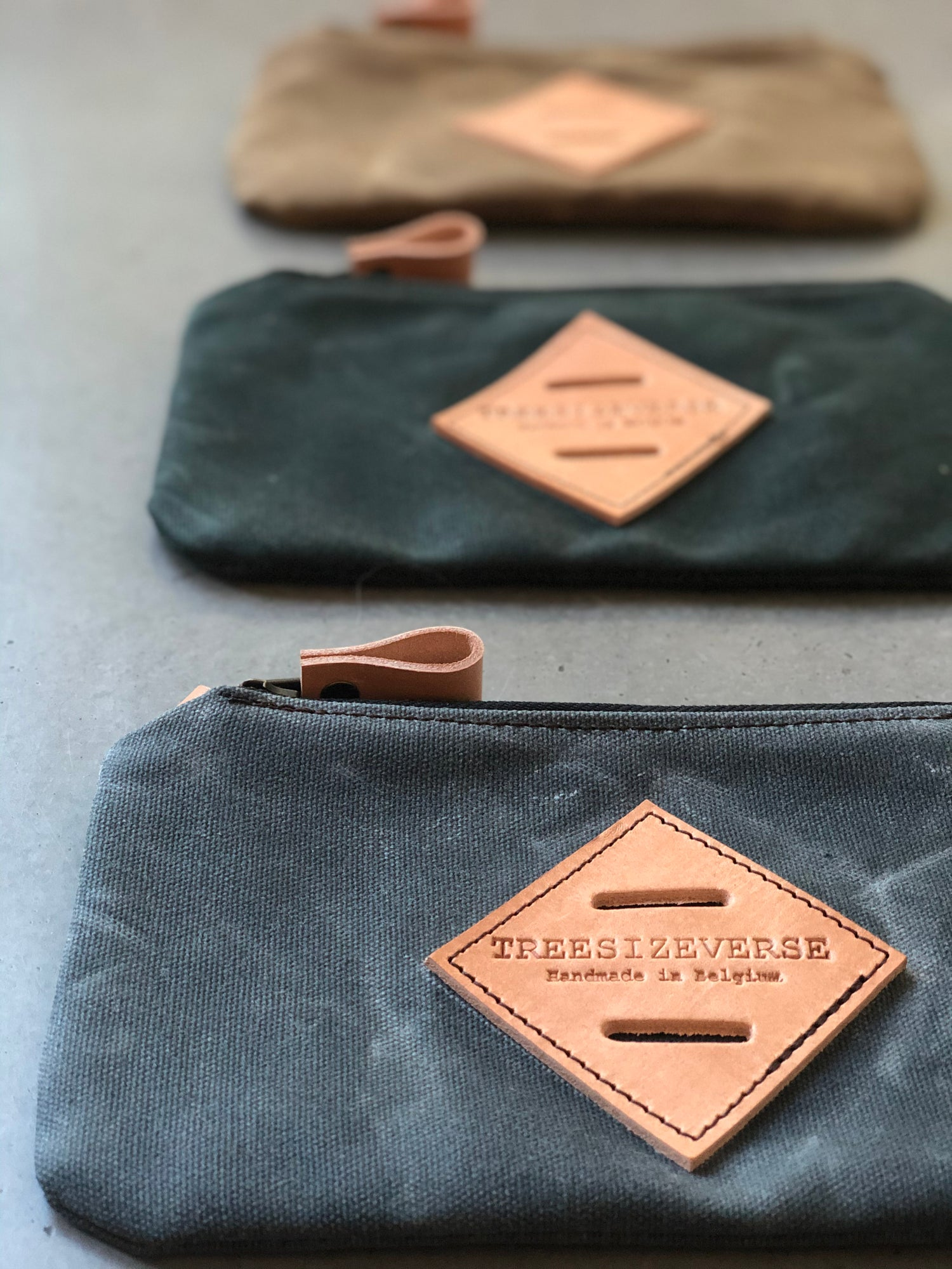 Image of Zipper pouch , pencil case, small pouch, pencil pouch made in waxed canvas