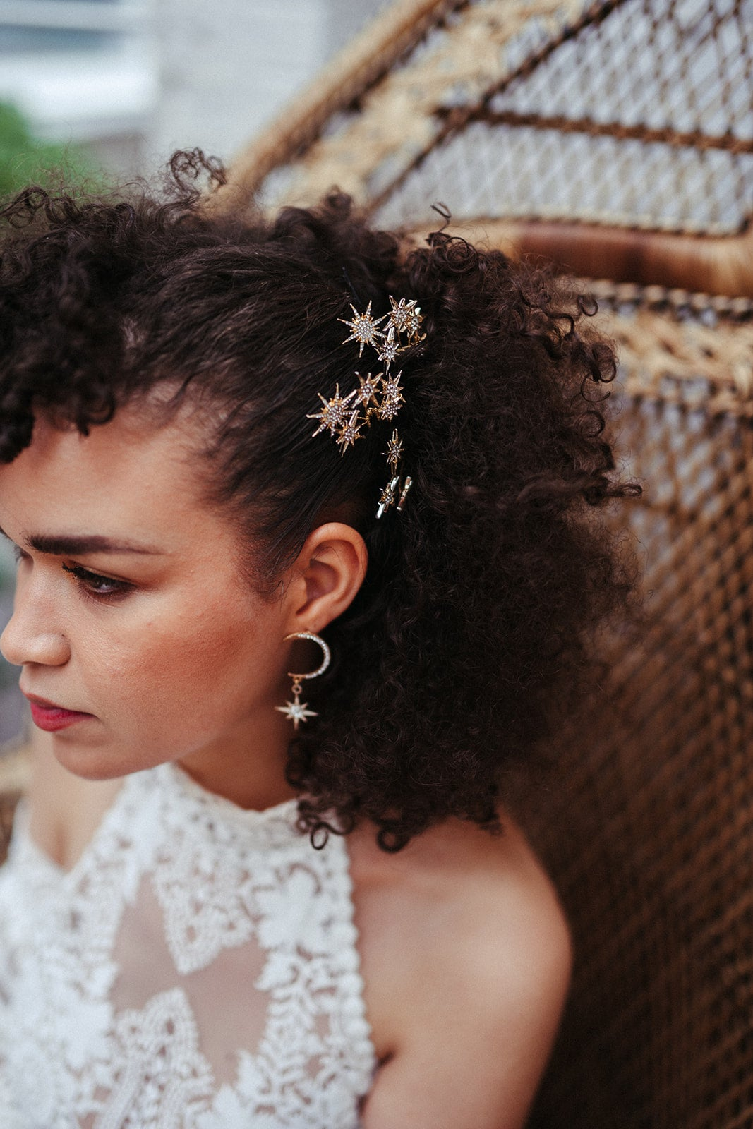 Night sky hair pins