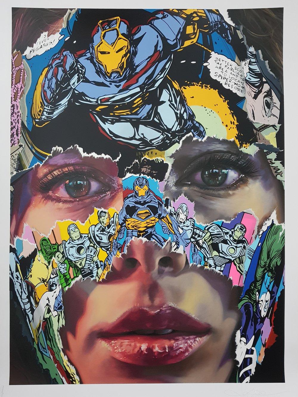 """Image of SANDRA CHEVRIER """"LA CAGE A L`UNISSON"""" - UNIQUE 1/1 27 COLOUR SCREENPRINT - 100CM X 70CM"""