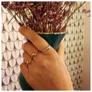 Image 5 of Layla small knot stacking ring
