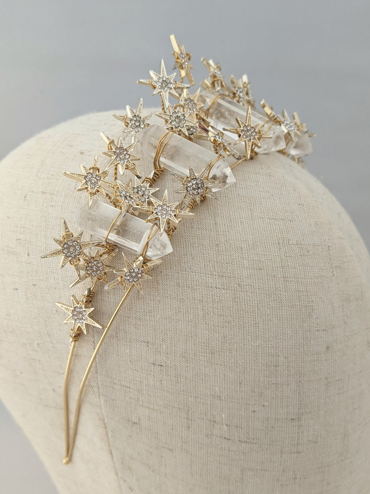 Starry night crystal crown