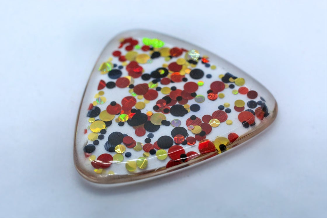 Image of 3mm 'Funky Montreux' plectrums