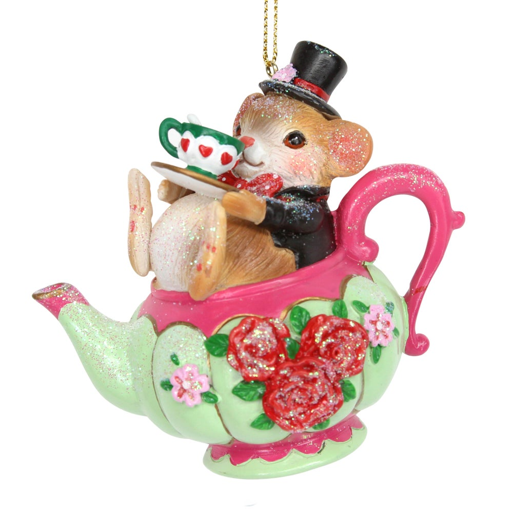 Image of Gisela Graham Dormouse in Teapot