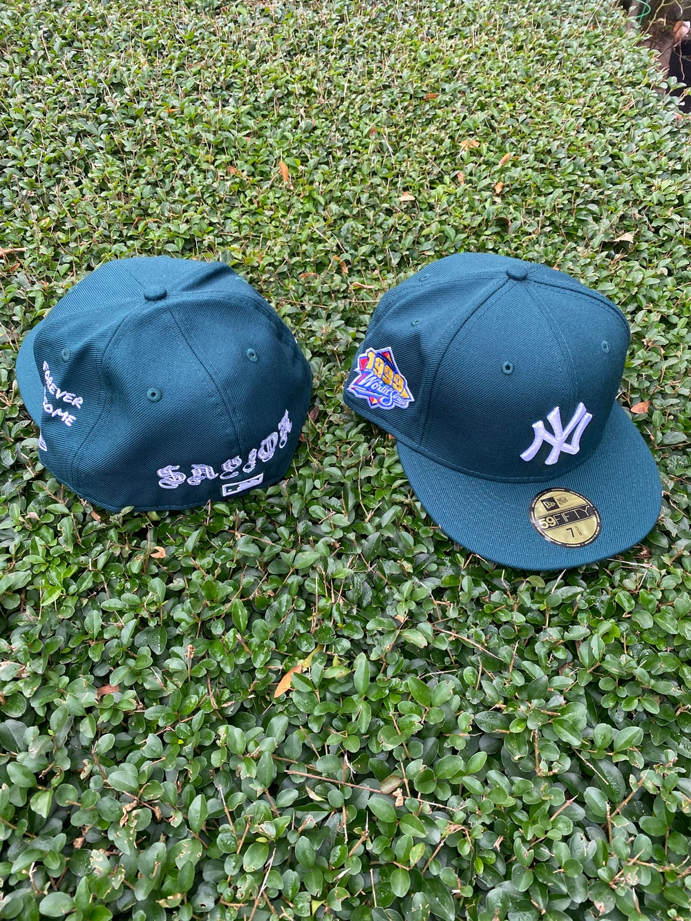 Image of FOREST GREEN 1999 YANKEES THE SAVIOR GREY BOTTOM