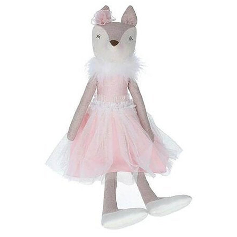 Image of Gisela Graham Pink Fabric Fox