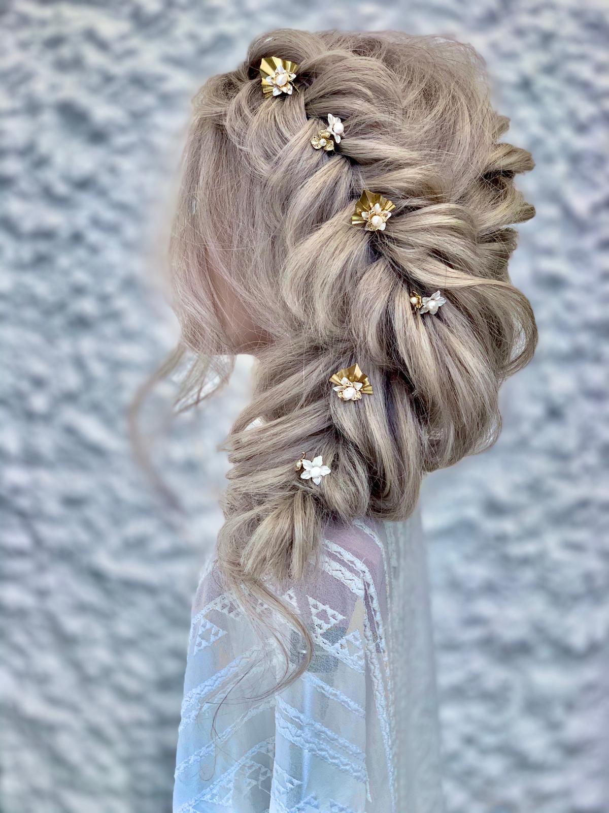 Athena bridal hair pins