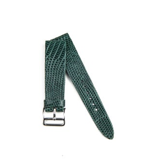 Image of Hand-Rolled Green Glazed Lizard watch strap