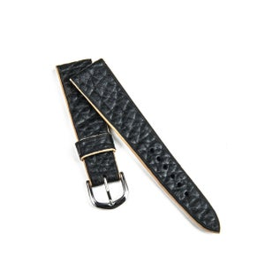 Image of Black Bison contrast cream edges watch strap
