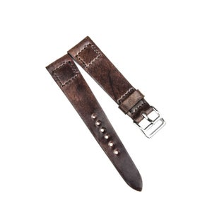 Image of Marble #8 Shell Cordovan Box Stitch unlined watch strap