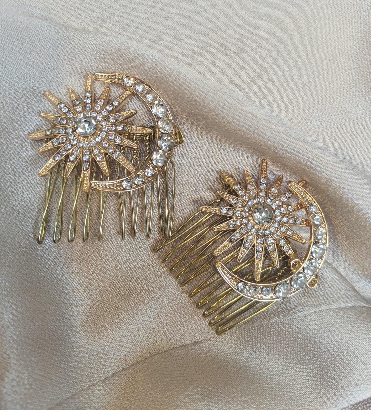 Galaxy bridal comb