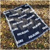 Folklore Text Blanket + FREE Pin