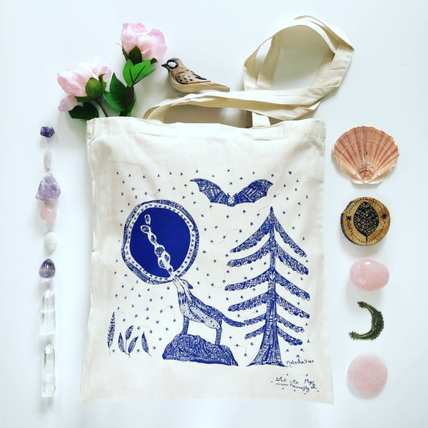 Image of Tote Bag *Wolf & night*