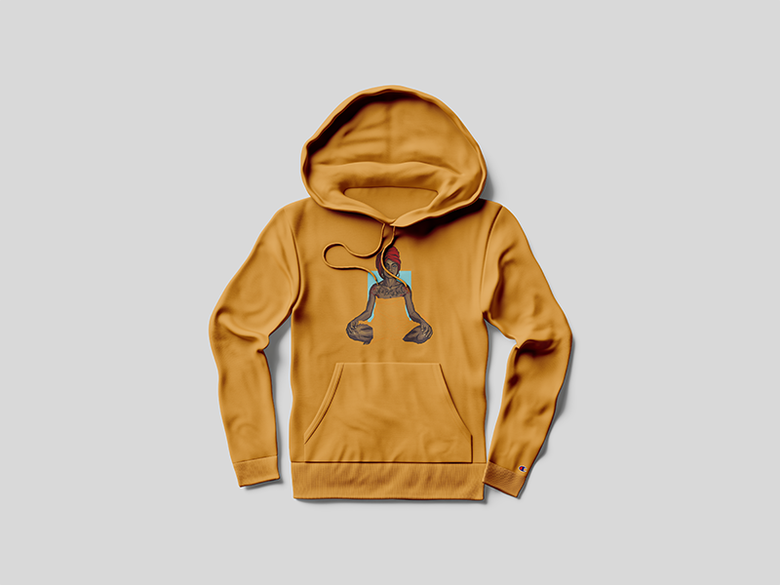 Image of Sade Sweetest Taboo Champion Hoodie Gold