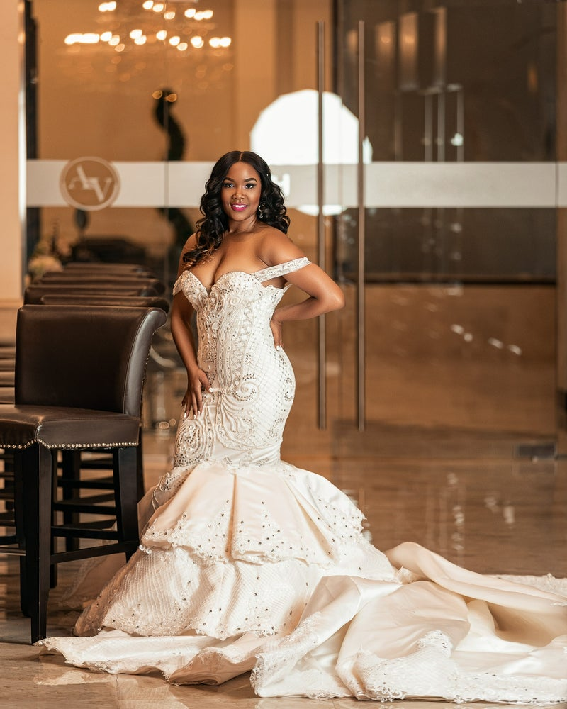 Image of Nicole Tyler Mermaid Wedding Dress.