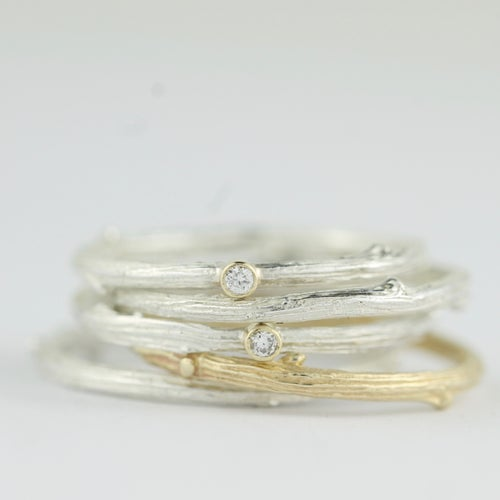 Image of THE MIMI SILVER OAK TWIG RING