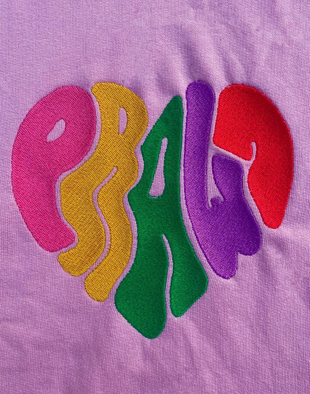 Image of pink prawn jumper