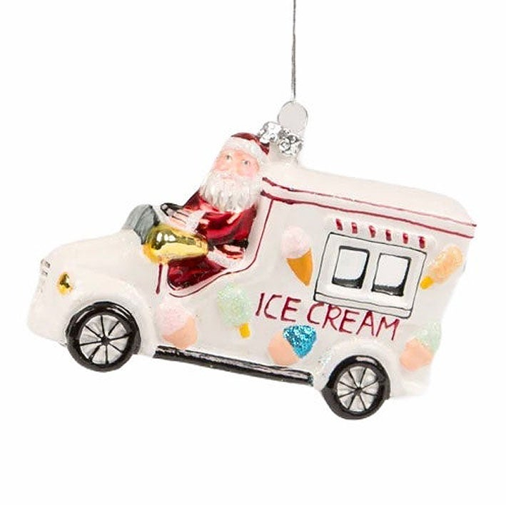 Image of Santa Ice Cream Truck Bauble