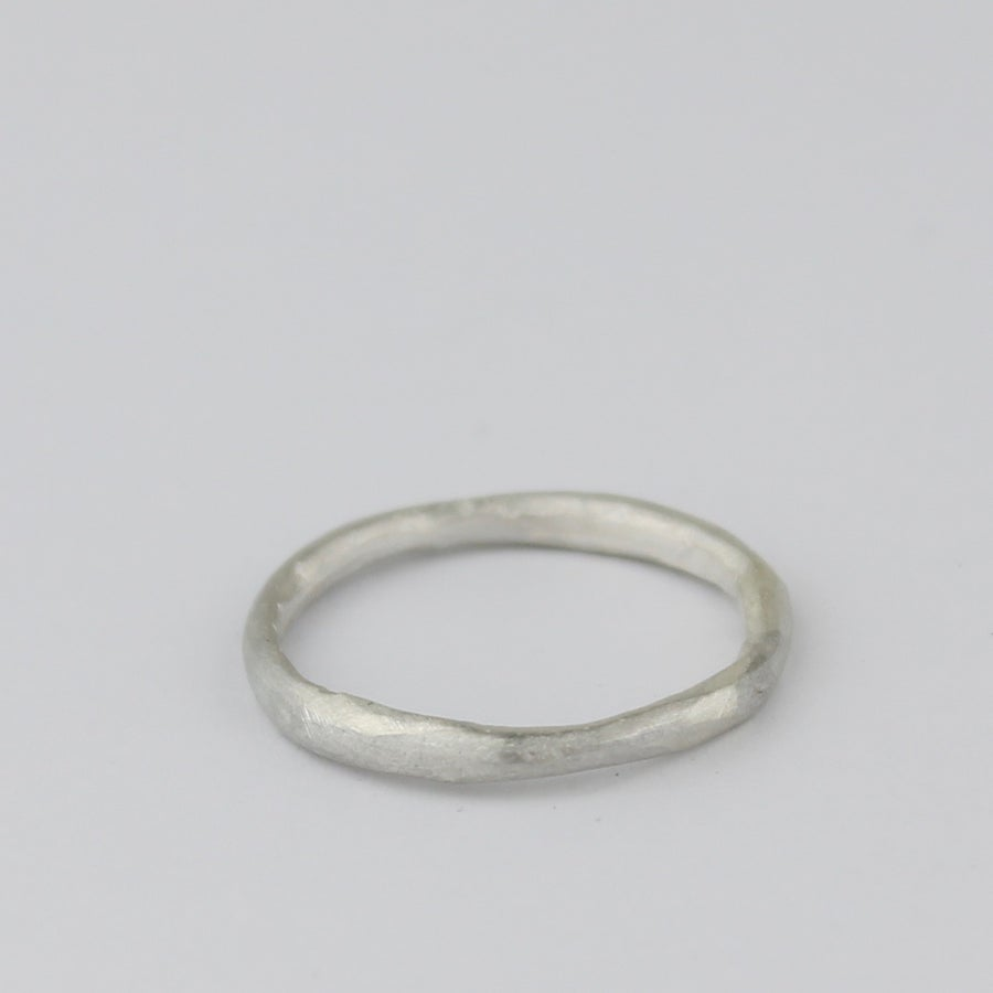 Image of NEW. SKINNY ORGANIC RING IN SILVER