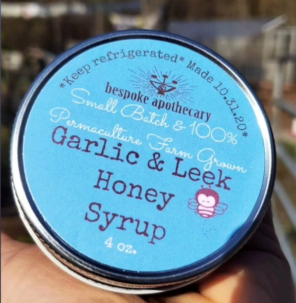 Image of Garlic and Leek Honey Syrup 🌿 100% permaculture farm grown
