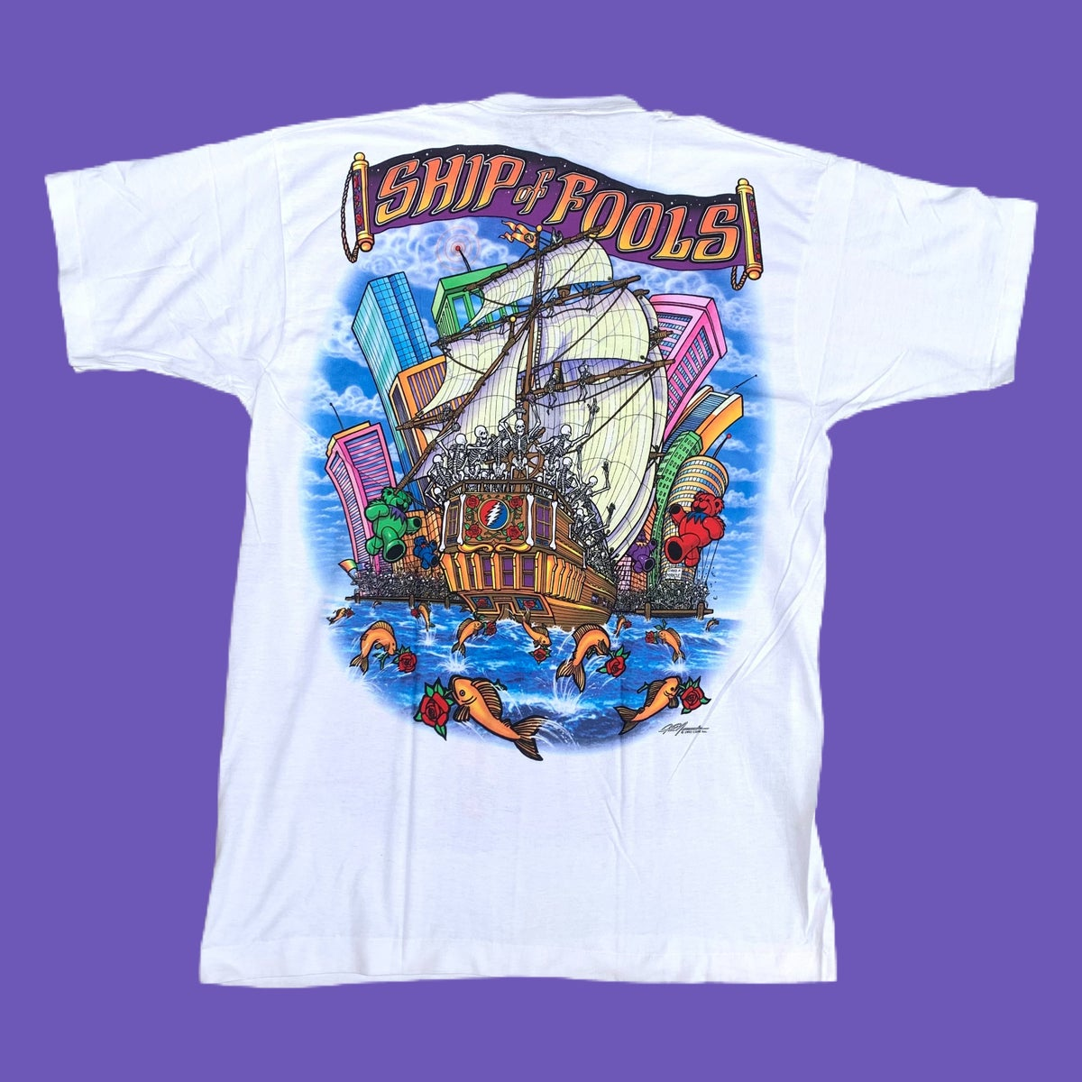 Original Vintage Grateful Dead 1990's Ship of Fools Tee!!! X-Large