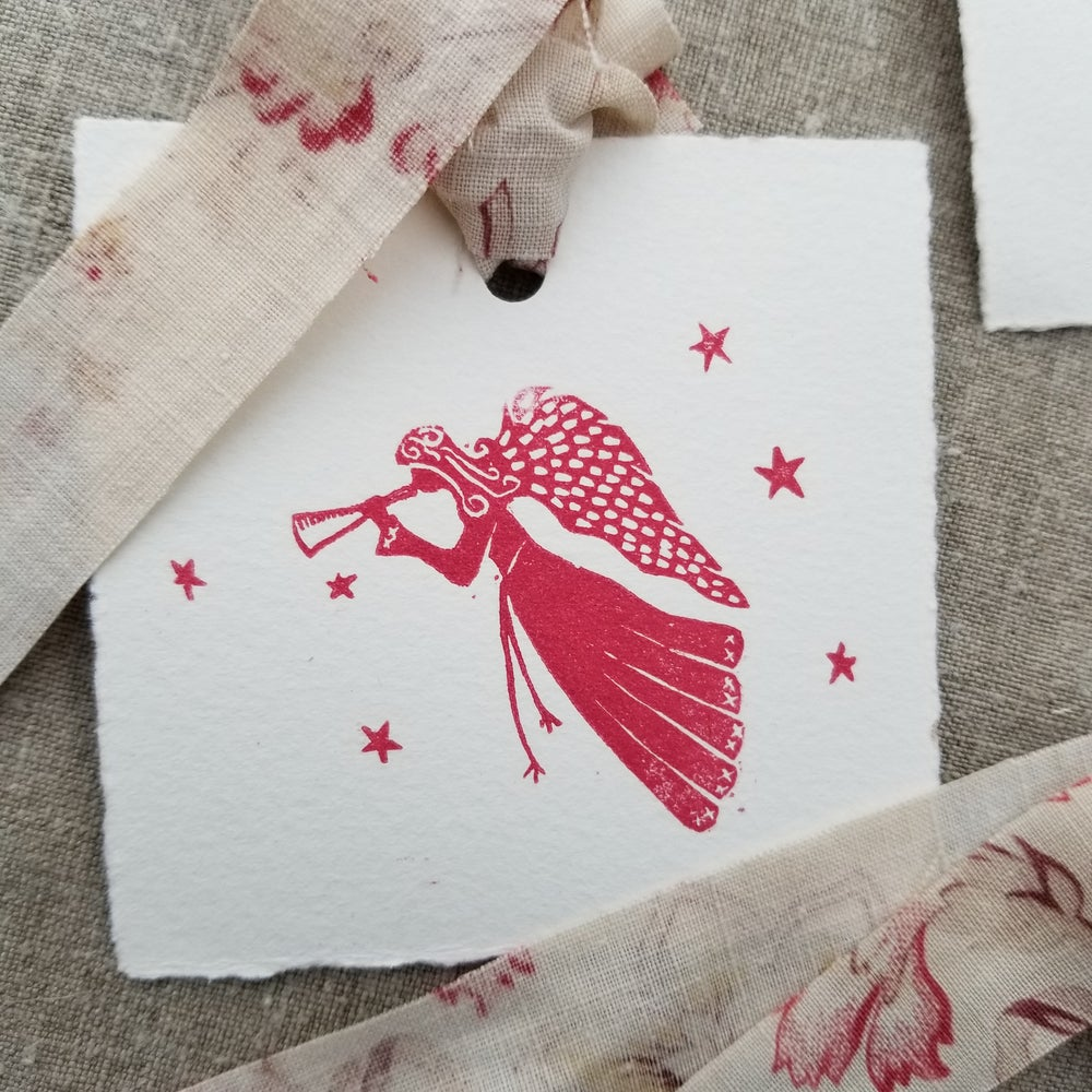 Image of Gift Tags - Set of 4 - Red