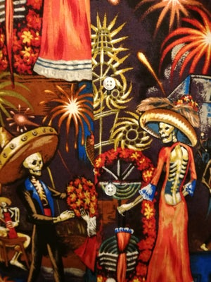 Image of Day of the dead fireworks celebration